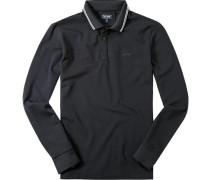 Polo-Shirt Polo Baumwoll-Piqué nachtblau