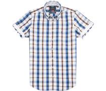 Hemd Modern Fit Popeline -blau kariert