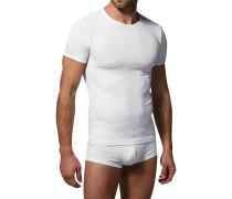 Herren T-Shirt Microfaser weiß