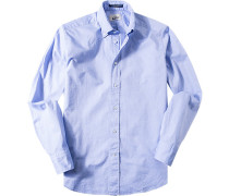 Hemd Regular Fit Baumwolle himmelblau meliert