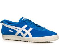 Schuhe Sneaker, Veloursleder, capriblau