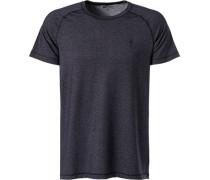 T-Shirt, Mikrofaser, anthrazit meliert