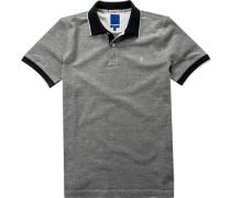 Herren Polo-Shirt Polo Modern Fit Baumwoll-Piqué schwarz-weiß
