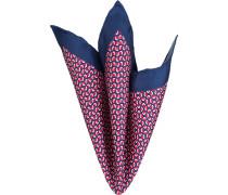 Accessoires Einstecktuch, Seide, rot-marineblau gemustert