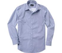 Hemd, Modern Fit, Popeline, gemustert