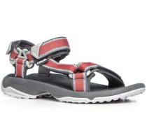 Herren Schuhe Sandalen Textil rot-hellgrau gemustert