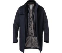 Mantel, Baumwolle, nachtblau