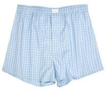Herren Unterwäsche Boxer-Shorts Popeline bleu-weiß kariert blau