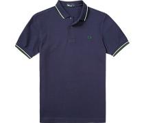 Herren Polo-Shirt Polo Baumwoll-Piqué marine blau