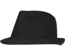 Herren   Strickhut Woll-Mix Schwarz schwarz