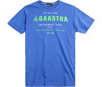 T-Shirt Baumwolle azurblau