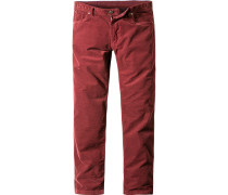 Jeans Screwflat-D Modern Fit Stretch-Cord dunkelrot