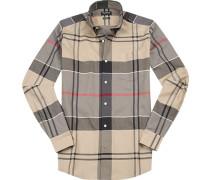 Hemd, Tailored Fit, Oxford, schwarz- kariert