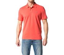 Herren Polo-Shirt Polo Regular Fit Baumwoll-Piqué koralle rot