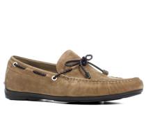 Schuhe Mokassins Rindleder mittelbraun