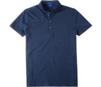 Polo-Shirt Polo Modern Fit Baumwoll-Jersey nachtblau