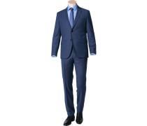 Herren Anzug Regular Fit Schurwolle Super110 REDA marineblau meliert