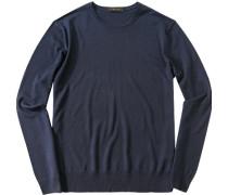 Pullover Schurwolle dunkelblau