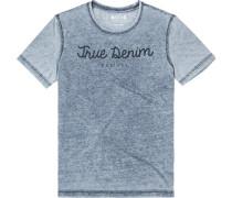 T-Shirt Baumwolle hellgrau- meliert