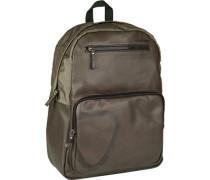 Tasche , Rucksack, Kunstleder-Nylon, schilfgrün