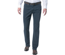 Jeans Regular Fit Baumwoll-Stretch dunkelblau