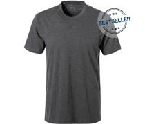 T-Shirt Baumwolle dunkelgrau meliert