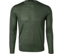 Pullover Schurwolle dunkelgrün