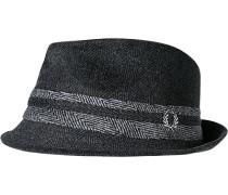 Herren  FRED PERRY Hut Wolle-Mix anthrazit gemustert grau