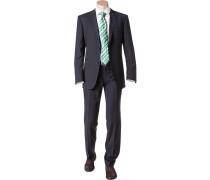 Herren Anzug Shape Fit Schurwolle Super110 Reda marineblau