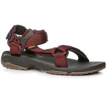 Schuhe Sandalen Textil barolo-oliv gemustert