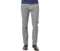 Cord-Jeans, Shaped Fit, Baumwolle, grau