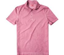Herren Polo-Shirt Polo Baumwoll-Jersey rotbeige