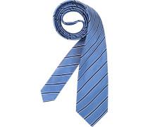 Herren Krawatte  blau,weiß