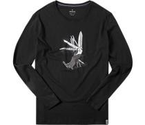 T-Shirt Longsleeve, Body-Fit, Pima-Baumwolle,