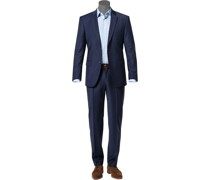 Anzug Shape Fit Schurwolle tintenblau gemustert