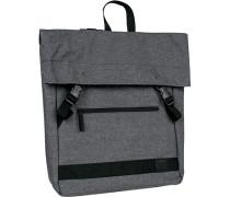 Tasche Rucksack, Microfaser, schwarz