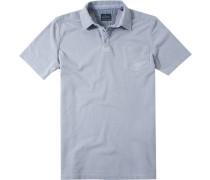 Herren Polo-Shirt Polo Baumwoll-Piqué hellgrau