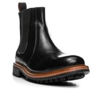 Herren Schuhe Chelsea Boots Leder schwarz schwarz,braun