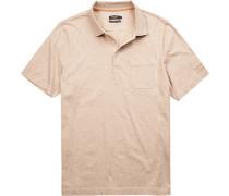 Polo-Shirt Polo Baumwolle mercerisiert meliert