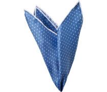 Accessoires Einstecktuch Seide blau gemustert