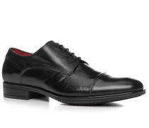 Schuhe Derby Kalbleder glatt nero ,rot