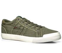 Herren Schuhe Sneaker Textil khaki grün,grün
