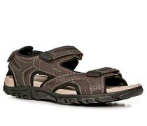 Herren Schuhe Sandalen Material-Mix schokobraun braun,beige