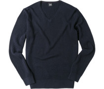 Pullover Wolle navy