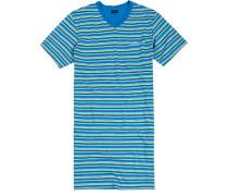 Nachthemd Baumwolle -grün gestreift