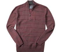 Pullover Troyer Baumwolle dunkelgrau- meliert