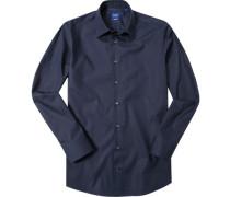 Oberhemd Modern Fit Popeline nachtblau