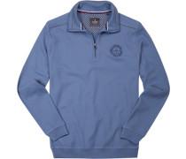 Sweatshirt Baumwolle jeansblau