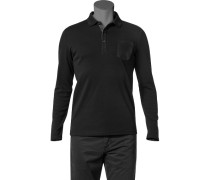 Herren Polo-Shirt Polo Baumwoll-Jersey schwarz