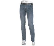 Herren Jeans Regular Slim Fit Baumwoll-Stretch jeansblau
